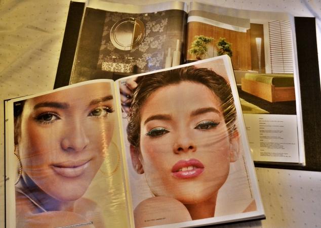 Catalogo de decoração e a parte de Make do catálogo de moda.