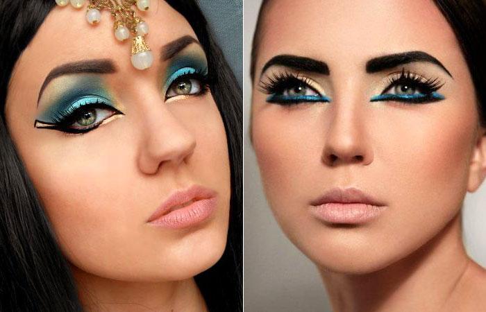 Cleópatra, uma maquiagem bonita e uma roupa não muito difícil de encontrar. Pena que sou loira :(