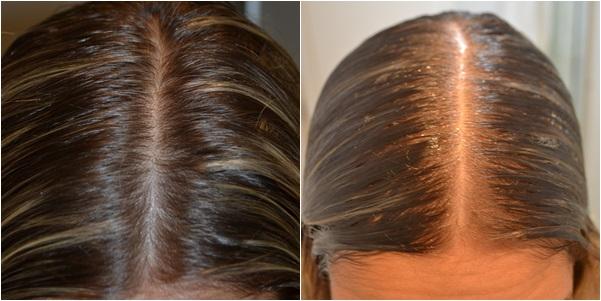 Divida o cabelo no meio e aplique bastante gel de efeito molhado, apenas na parte da cabeça, e não no cabelo todo.